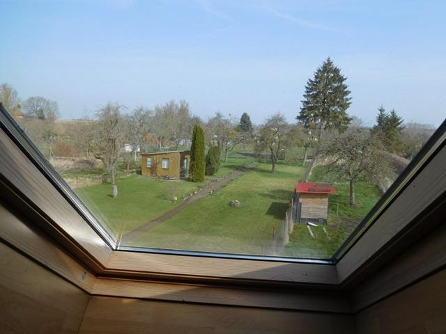 ...und diesem Fensterblick auf den mitnutzbaren Garten...