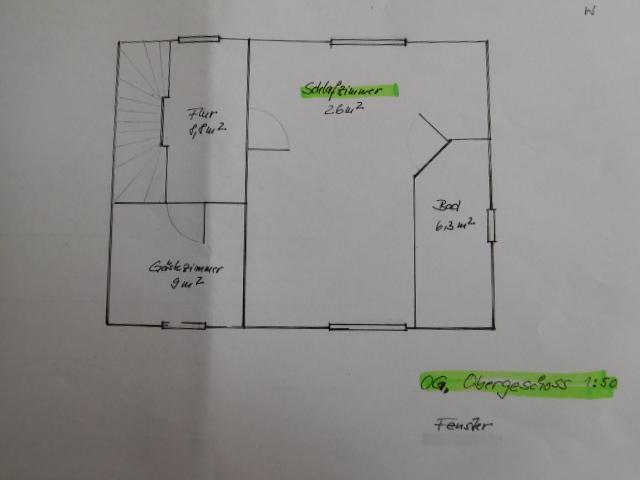 Grundriss Wohnhaus OG