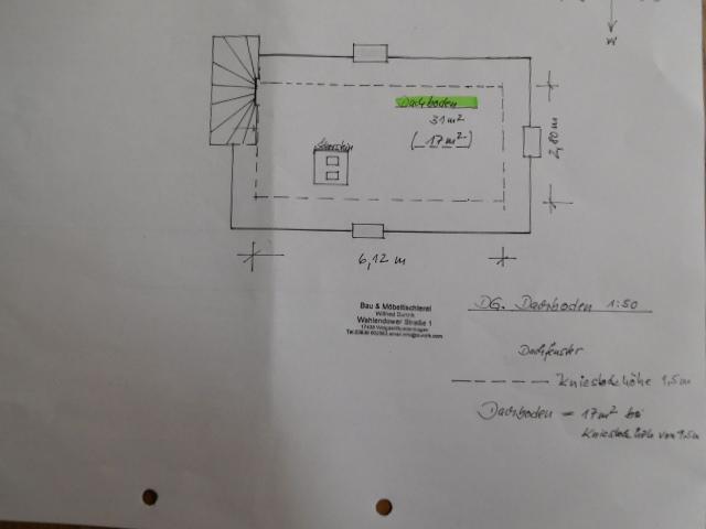 Grundriss Wohnhaus DG