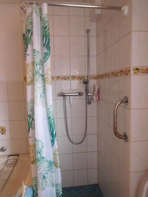 ...und mit einer Dusche...